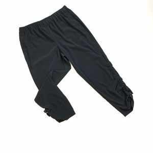 Chico's Crop Black Pants Tie detail size Medium